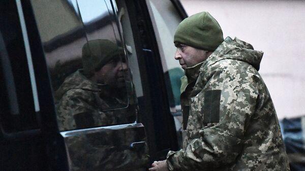 Один из задержанных моряков с кораблей ВМС Украины Бердянск, Никополь и Яны Капу. Архивное фото