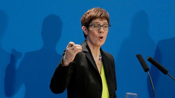 Председатель немецкого Христианско-демократического союза Аннегрет Крамп-Карренбауэр