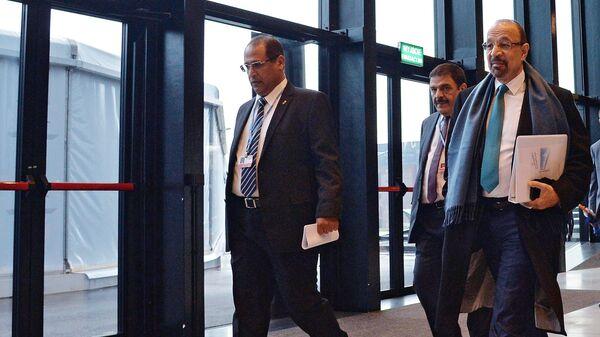Президент Организации стран – экспортеров нефти  Халид аль-Фалих на 24-й Конференции Организации объединенных наций (ООН) по изменению климата в Катовице. 4 декабря 2018
