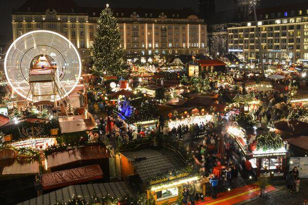 Открытие Рождественской ярмарки в Дрездене