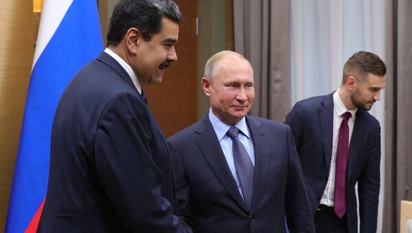 Президент РФ Владимир Путин и президент Венесуэлы Николас Мадуро во время встречи. 5 декабря 2018