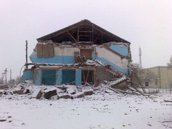Здание обрушившейся средней школы в селе Беляевка разобрано