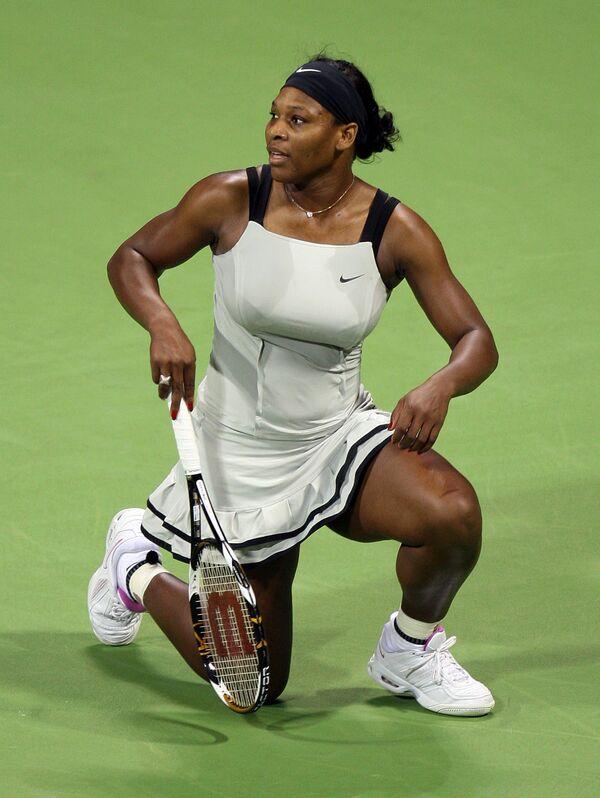 Серена Уильямс на турнире в Дохе