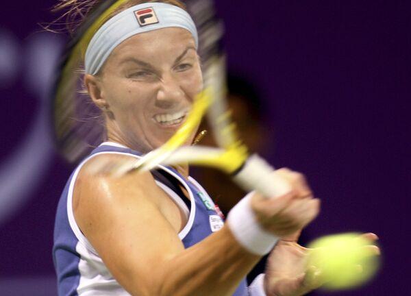 Светлана Кузнецова на турнире в Дохе