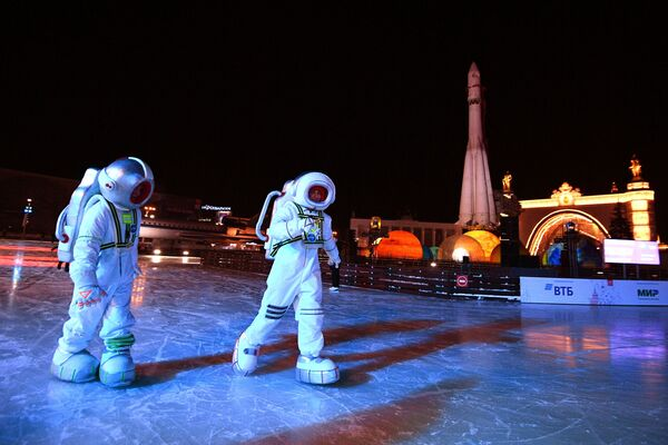 Артисты на открытии Города зимы на территории ВДНХ в Москве