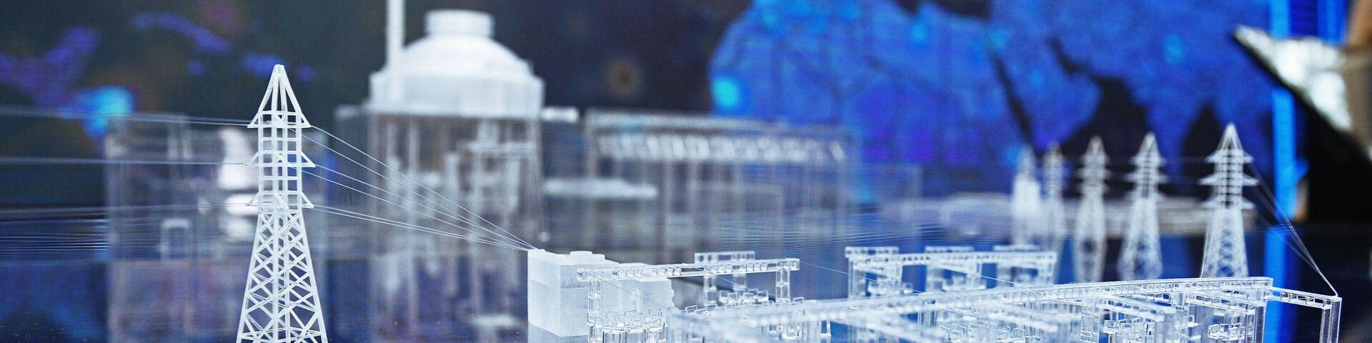 Модель электростанции на Международном форуме «АТОМЭКСПО»  - РИА Новости, 1920, 06.12.2018