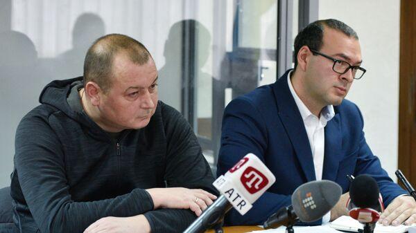 Капитан российского судна Норд Владимир Горбенко в Оболонском районном суде Киева