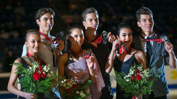 Призеры танцев на льду Финала Гран-при среди юниоров