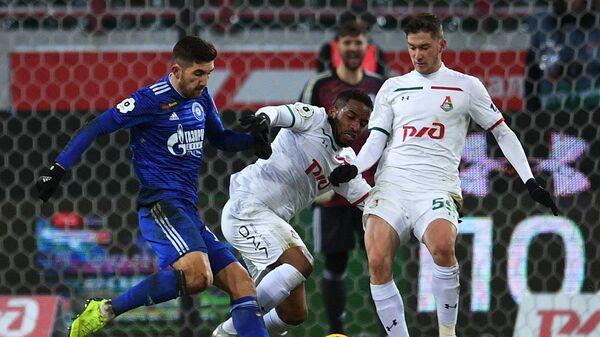 Игровой момент матча Локомотив - Оренбург
