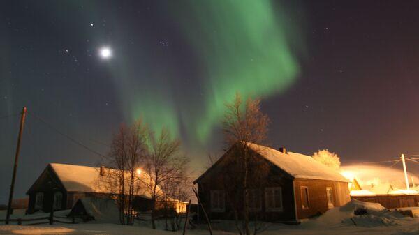 Северное сияние в Ненецком автономном округе