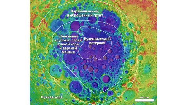 Кратер Карман на Южном полюсе Луны, место посадки китайской станции Чанъэ-4