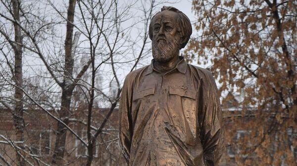 Открытие памятника писателю А. Солженицыну