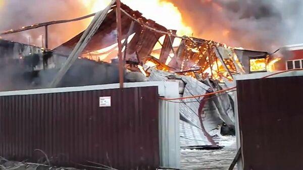 Пожар на мебельной фабрике в Щелково. 11 декабря 2018