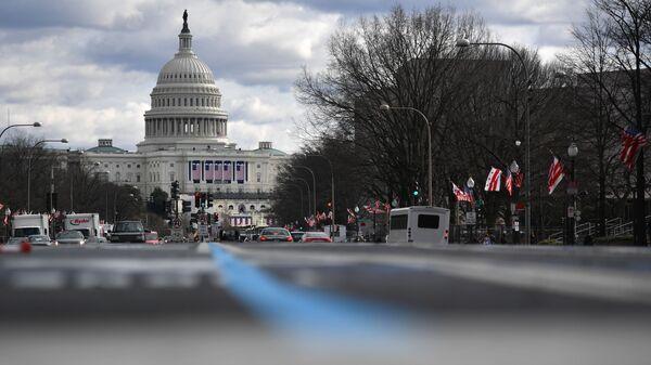 Вид на Капитолий в Вашингтоне