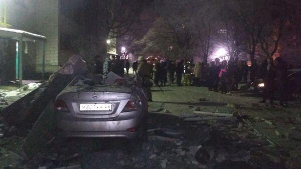 На месте взрыва бытового газа в Вологде. 16 декабря 2018
