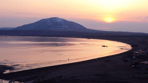 Вулкан Менделеева на острове Кунашир
