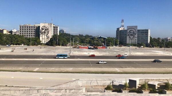 Вид на Площадь Революции, Гавана, Куба