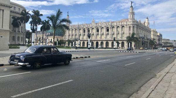 Вид на здание Большого театра Гаваны, Куба