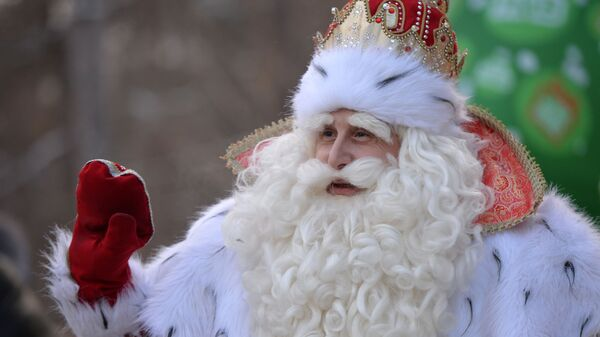 Всероссийский Дед Мороз на празднике в ЦПКиО им. Маяковского во время посещения Екатеринбурга