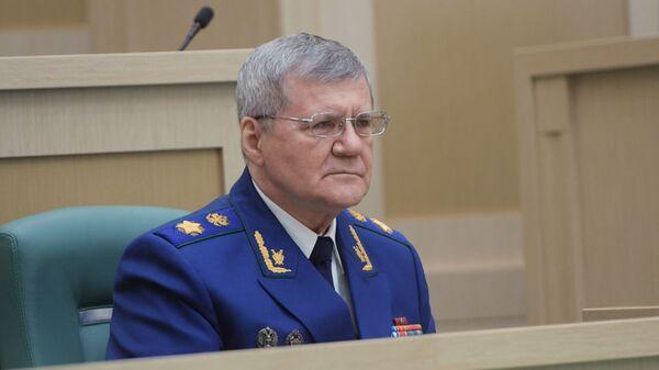 Генеральный прокурор РФ Юрий Чайка на итоговом заседании Совета Федерации РФ в рамках осенней сессии