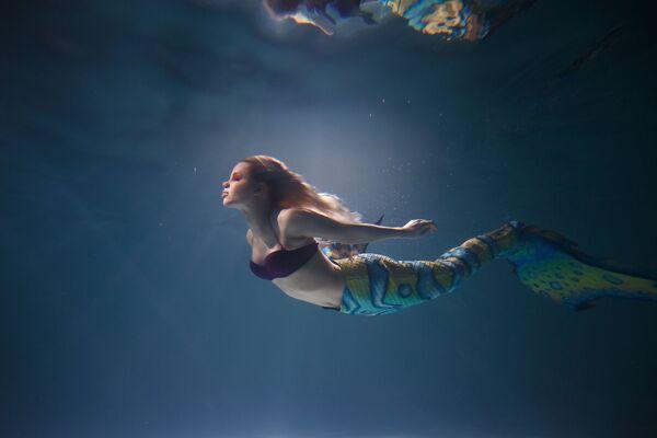 Модель Маша Сидорова в образе русалки