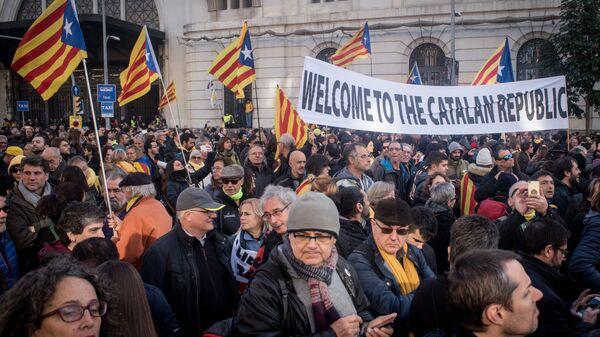 Акции протеста в Барселоне