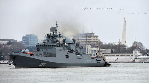 Возвращение фрегата Адмирал Эссен в Севастополь