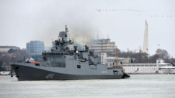 Возвращение фрегата Адмирал Эссен в Севастополь. 26 декабря 2018