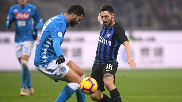Игровой момент матча Интер - Наполи