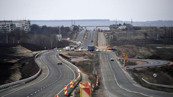 На участке трассы Таврида от Симферополя до Белогорска