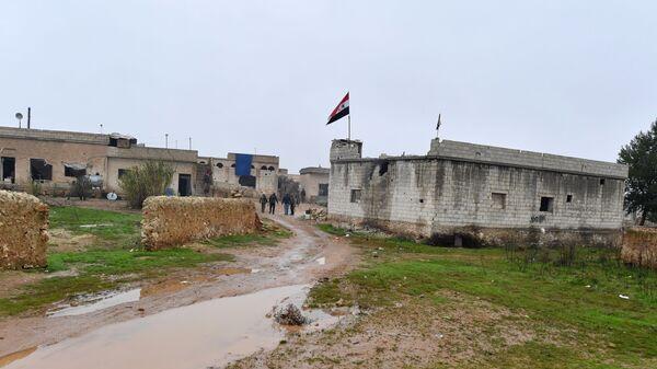 Позиции сирийской армии на западе района Манбидж провинции Алеппо в Сирии. 30 декабря 2018