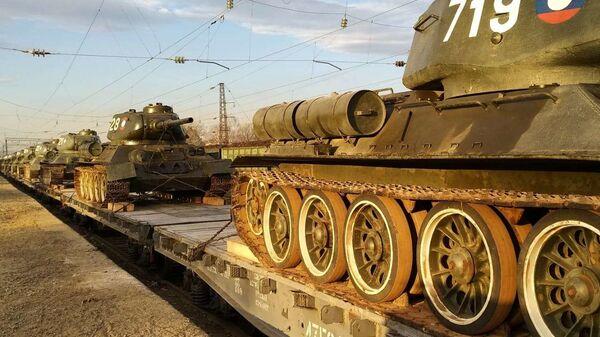 Танки Т-34, переданные России министерством обороны Лаосской Народно-Демократической Республики