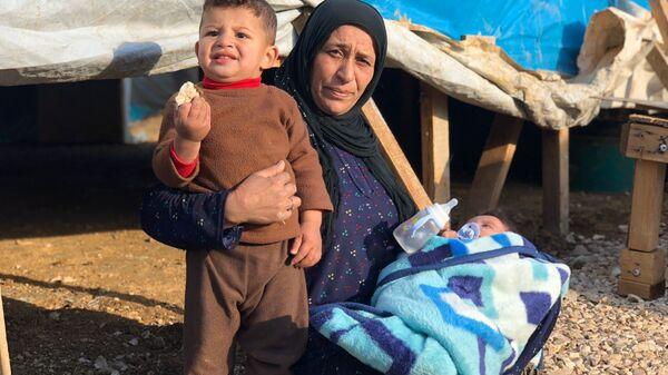 Пострадавший от удара стихии лагерь беженцев Абу-Мазен в поселении Барэльяс в долине Бекаа
