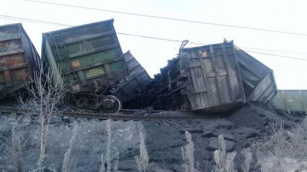 Сход поездов с рельсов в Иркутской области