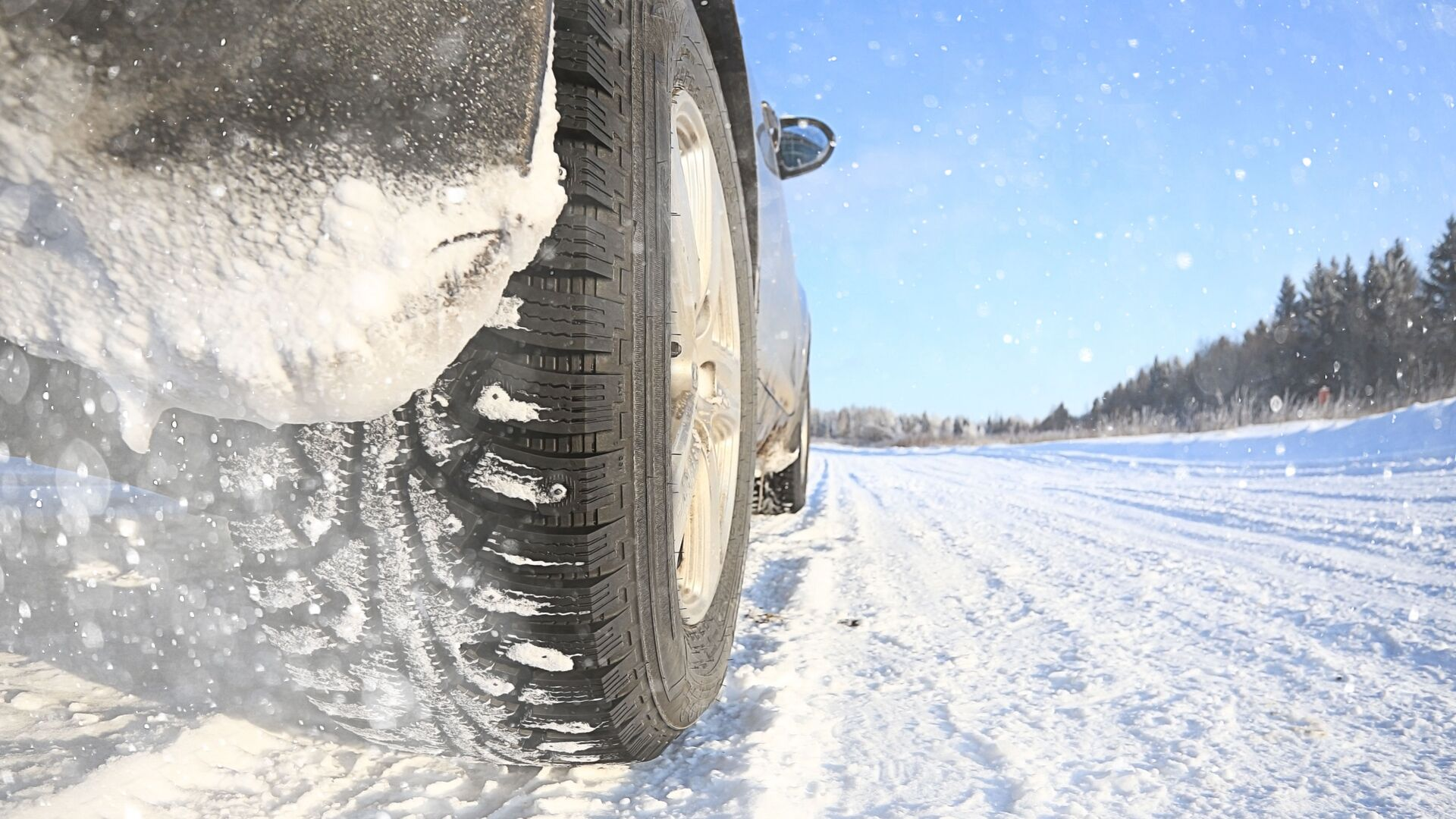 Автомобиль на снежной дороге - РИА Новости, 1920, 24.01.2021