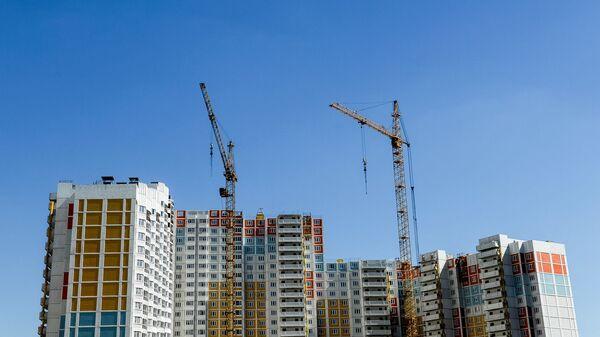 Строящийся жилой комплекс в Подмосковье