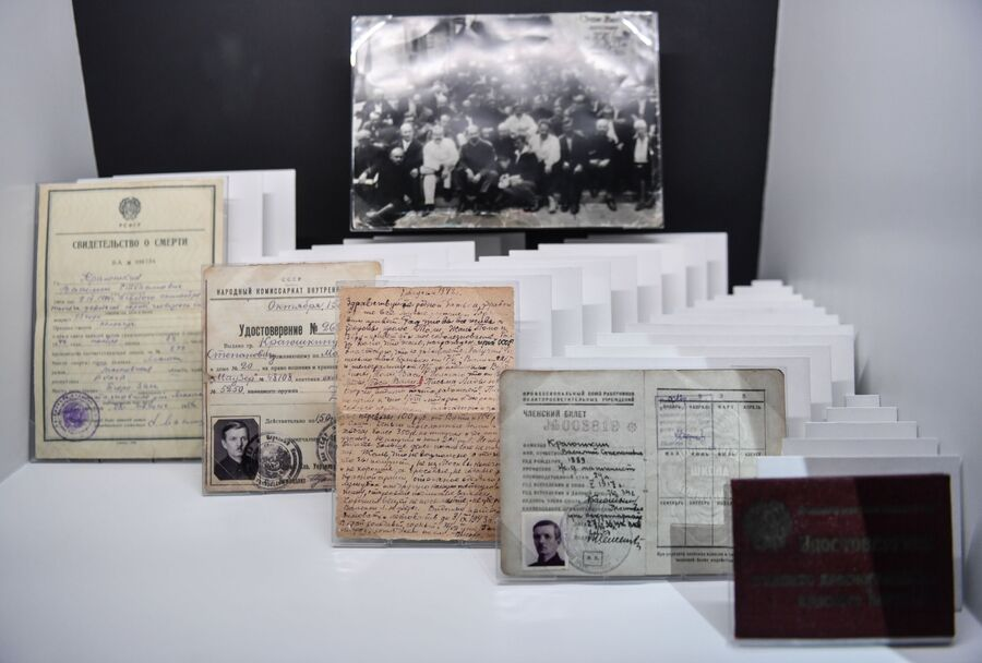 Фрагмент новой постоянной экспозиции ГУЛАГ в судьбах людей и истории страны в Музее истории ГУЛАГа в Москве
