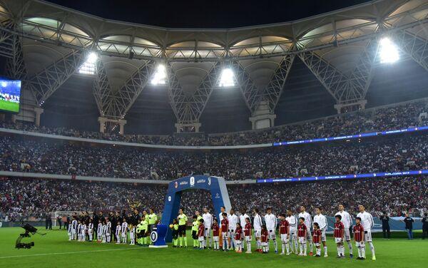 Стадион имени принца Абдуллы аль-Файсала в Джидде (Саудовская Аравия) перед матчем за Суперкубок Италии Ювентус - Милан