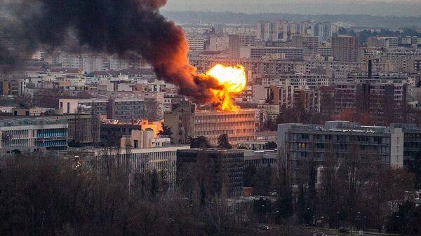 Пожар в кампусе университета в Лионе. 17 января 2019