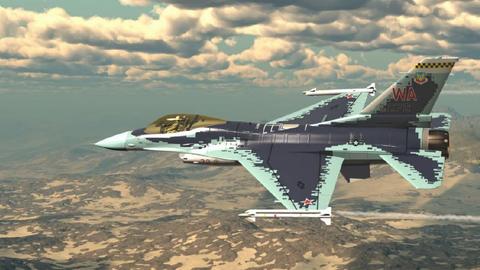 Истребитель F-16C ВВС США в раскраске российского перехватчика пятого поколения Су-57