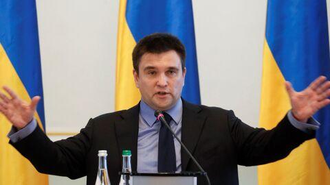 Глава МИД Украины Павел Климкин на пресс-конференции в Киеве