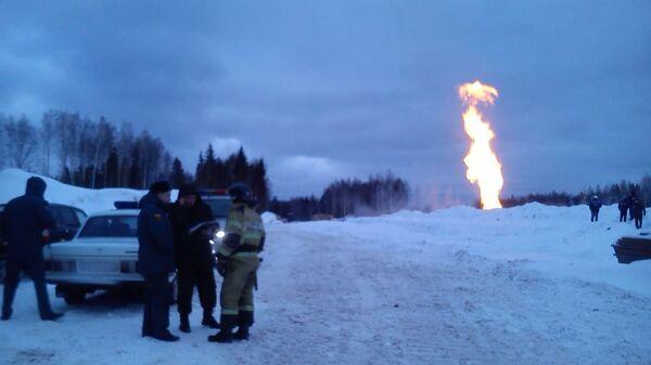 Взрыв на магистральном газопроводе в Ленинградской области