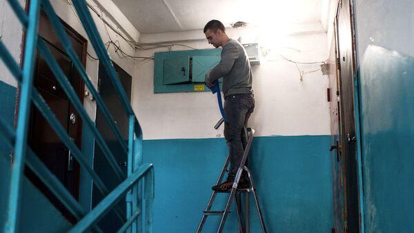 Замена электропроводки в подъезде жилого дома