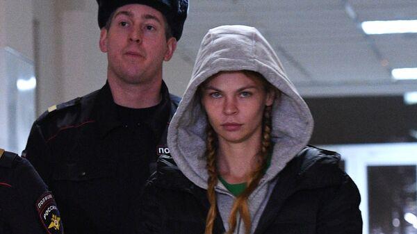 Анастасия Вашукевич (Настя Рыбка) в Нагатинском суде. 19 января 2019