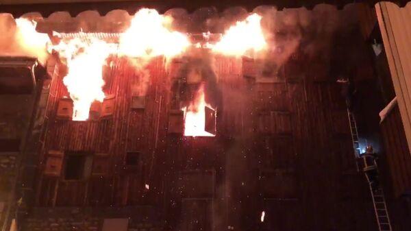 Пожар на горнолыжном курорте Куршевель во французском департаменте Савойя