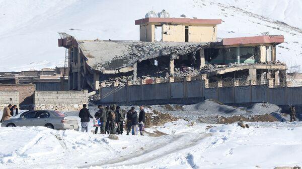 Военная база в центральной афганской провинции Вардак после нападения. 21 января 2019