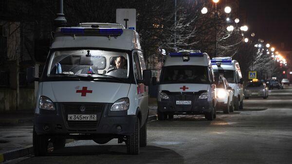 Кареты скорой помощи у Керченской городской больницы №1
