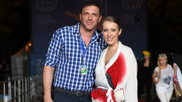 Максим Виторган и Ксения Собчак на кинофестивале Кинотавр в Сочи