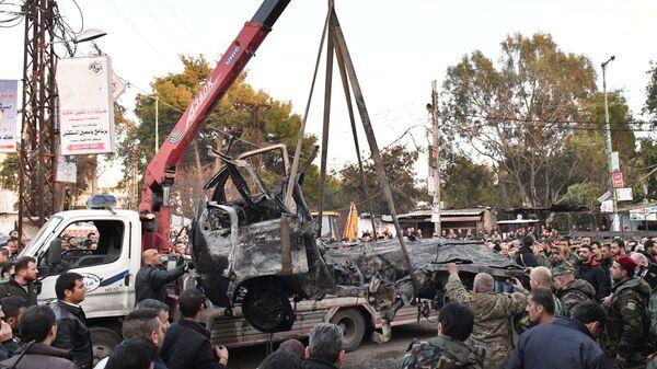Взрыв заминированного автомобиля в Латакии. 22 января 2019