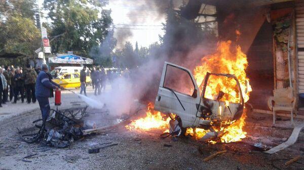Взрыв заминированного автомобиля в Латакии